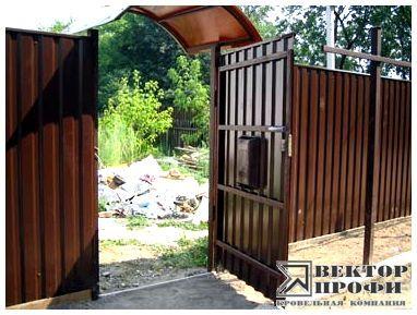 Ворота с металлопрофиля своими руками