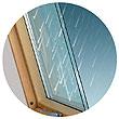 Закаленный стеклопакет мансардного окна